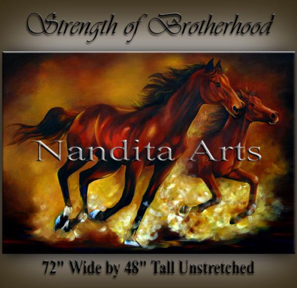 Horse Painting, Horse Art, Running horse artwork