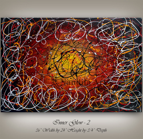 Abstract string art Inner Glow