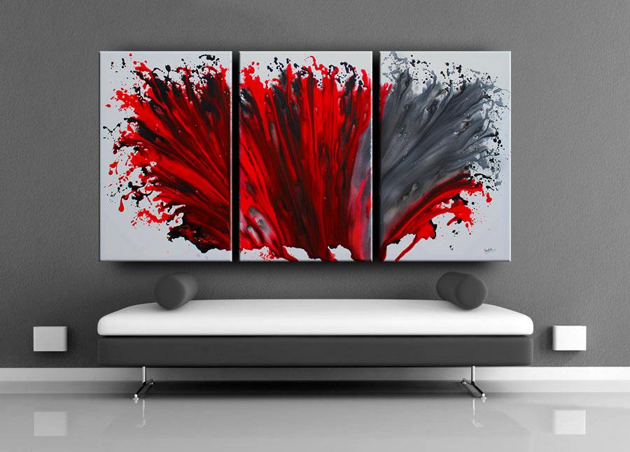 Large Painting Art Burst of Inspiration
