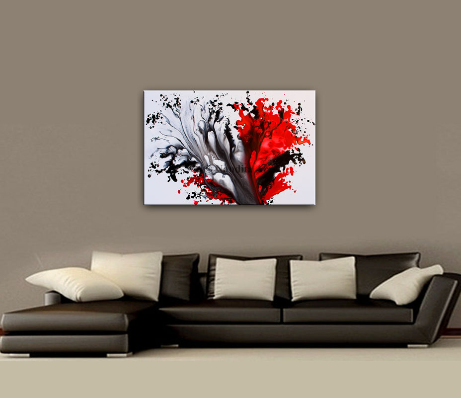Red Original art Passion Wave