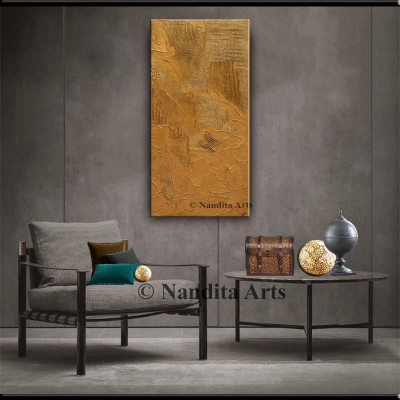 Gold Textured Artwork