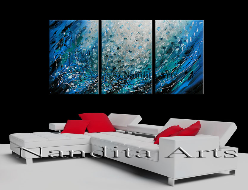 Abstract Art Paths to New Beginnings