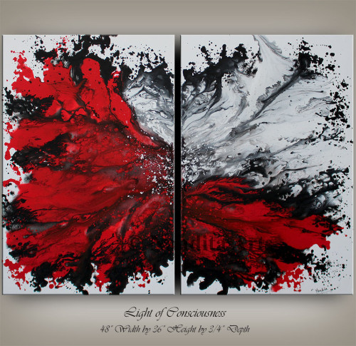 Art,Red,Red Artwork,Original Red Painting, Large Red Painting,Red Artwork,Red and White Art