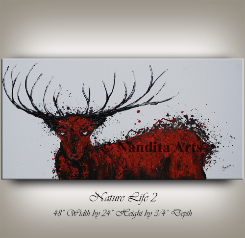 Deer Art, Stag Painting, Art
