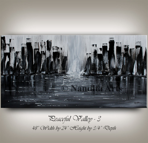 Black Cityscape Painting