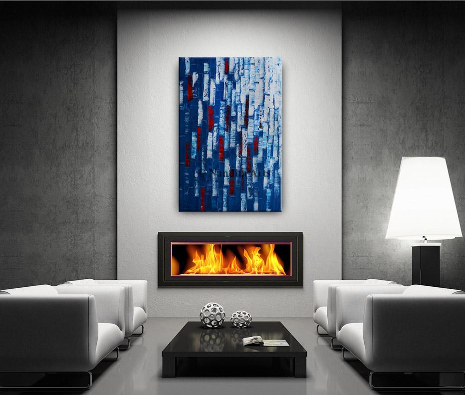 Heavy Textured blue artwork