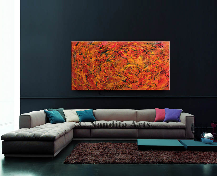 Jackson Pollack Style Art
