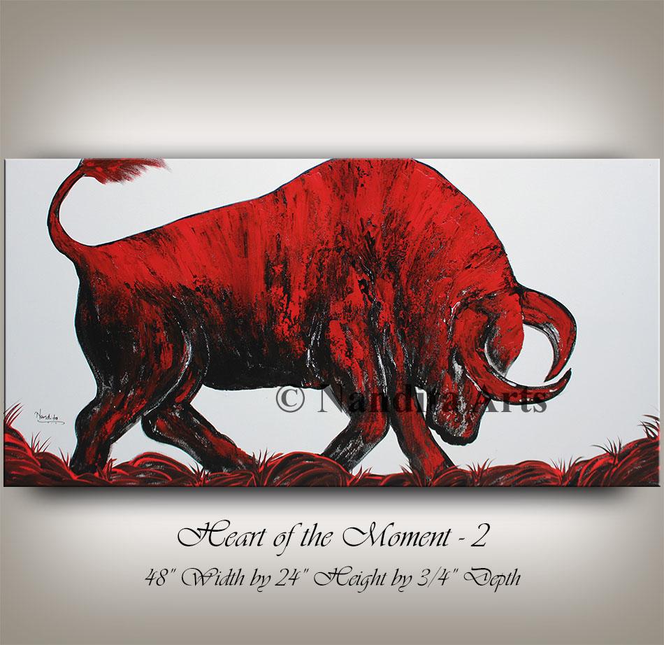 Bull, Bull Artwork, Bull Art, Bull Painting,
