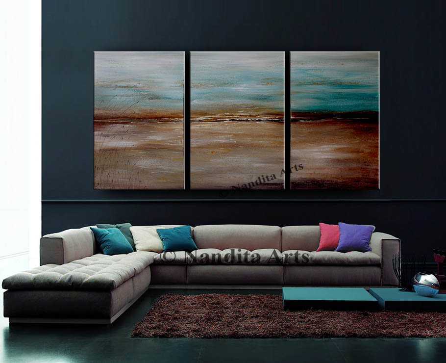 Turquoise Abstract Art