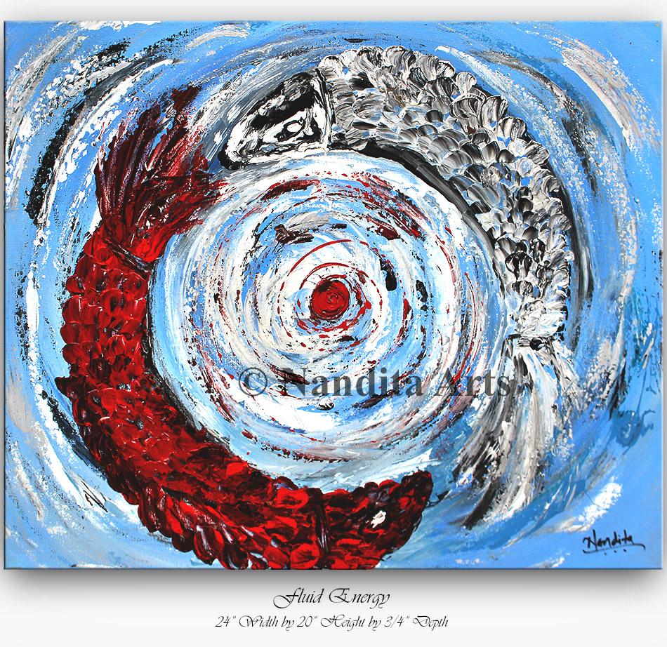 koi fish, Yin yang koi fish Painting