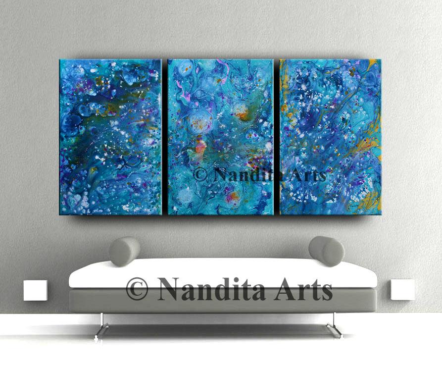 Blue, Blue Wall Art, Blue wall decor