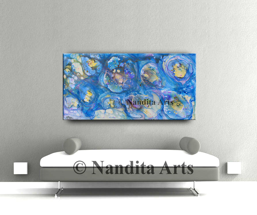 Extra large blue artwork