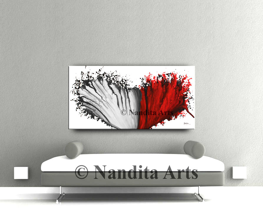 Red Modern Art Gallery by Nandita Albright