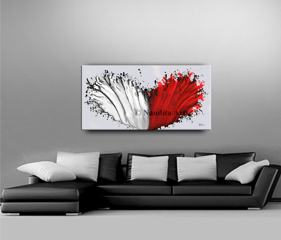 Red and White Artwork