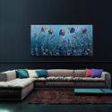 Iris Beauty Flower Art, Abstract Art Bull Painting For Sale