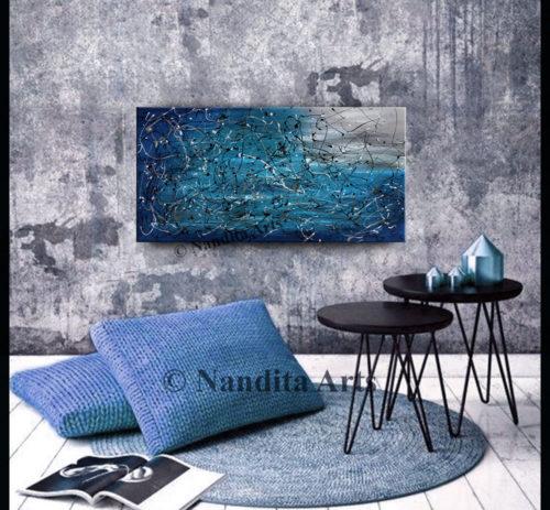 Jackson Pollack style modern art by Nandita Albright