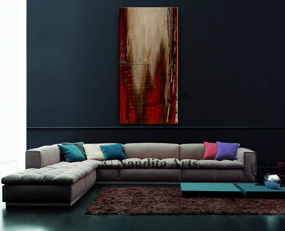 Red Abstract Artwork