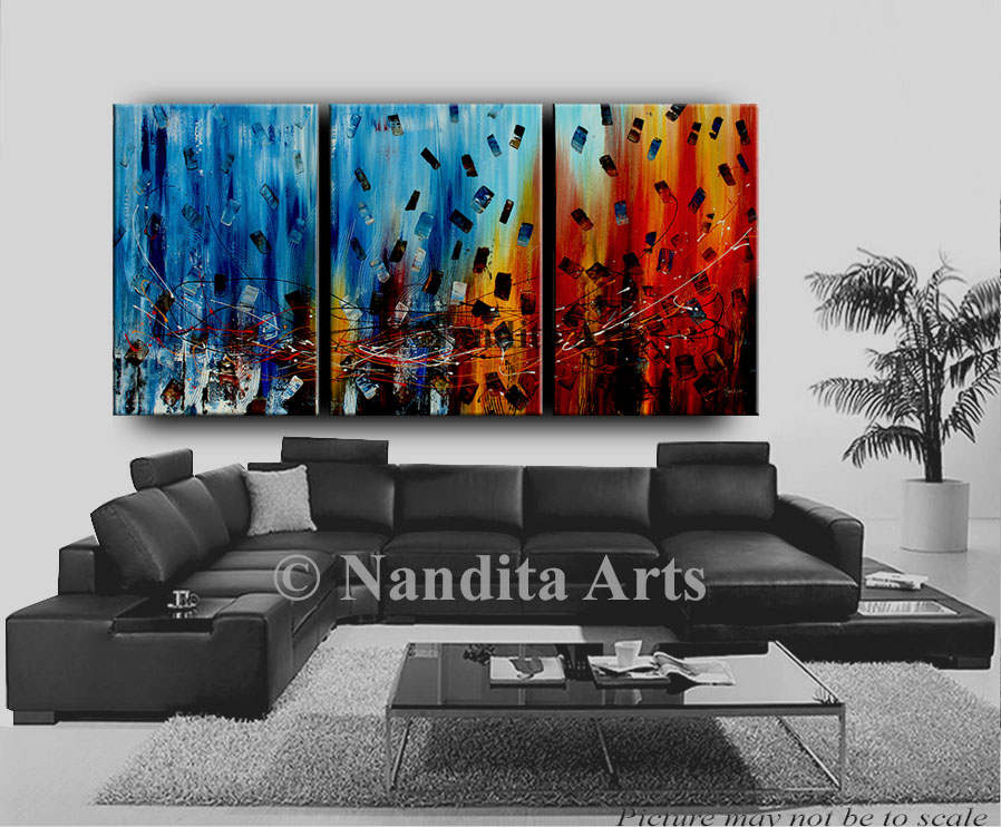 Colorful Large Art, modern art oil paintings for sale