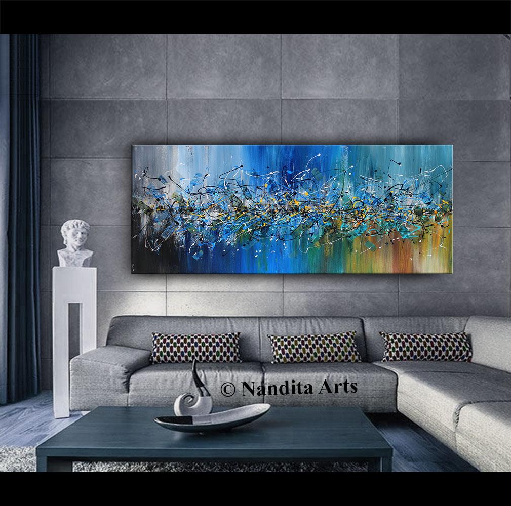 Jackson Pollack style Original Artwork by Nandita Albright