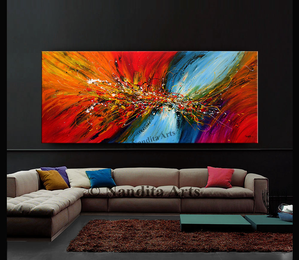 Abstract wall art by Nandita Albright