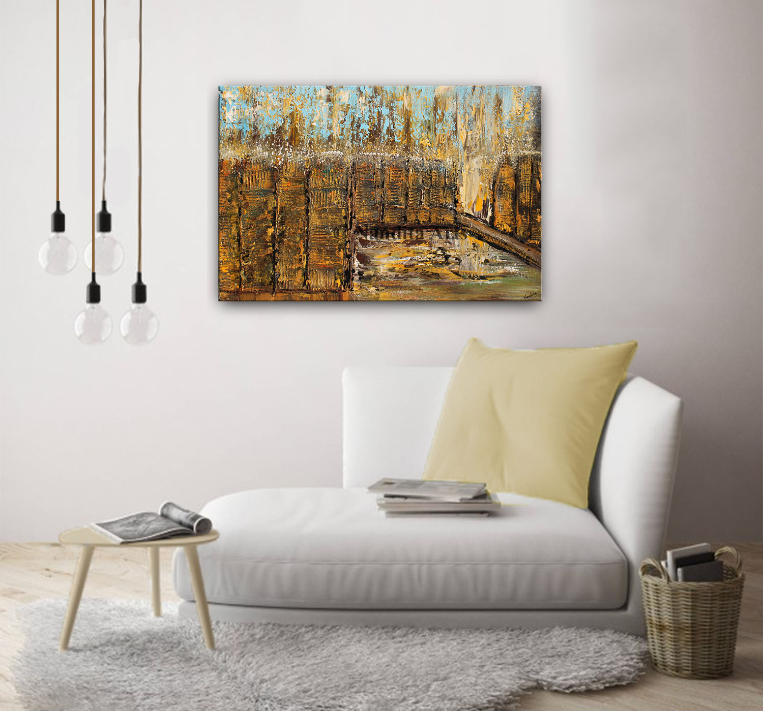 Textured Cityscape, Skyline Wall Art by Nandita Albright