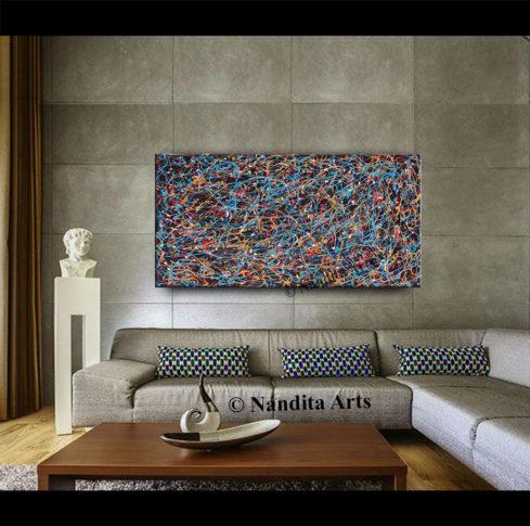 Jackson Pollack Style Abstract Art