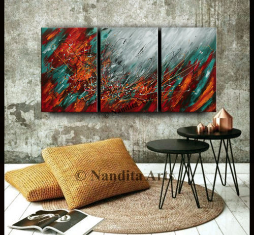 Modern wall art on canvas by Nandita Albright