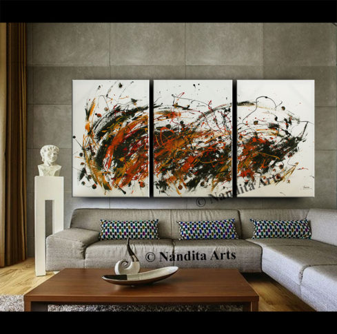 Jackson Pollack look abstract art by Nandita Albright