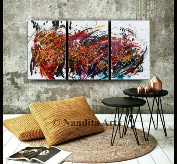 Abstract Art Jackson Pollack look by Nandita Albright