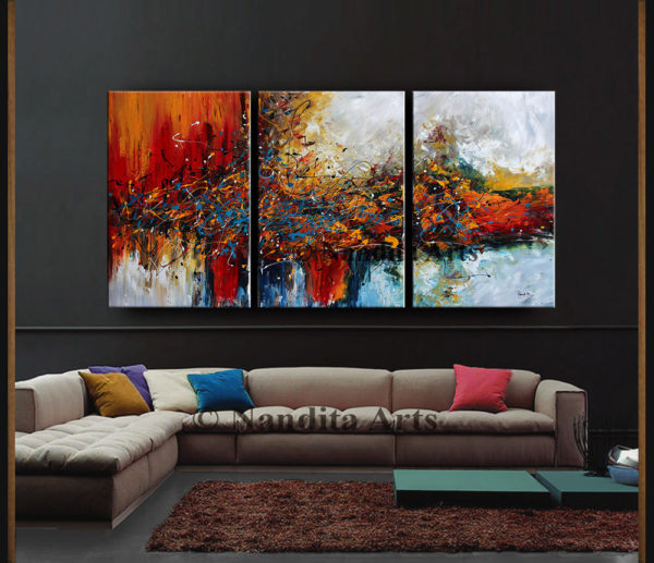 Large Abstract Wall Art by Nandita Albright