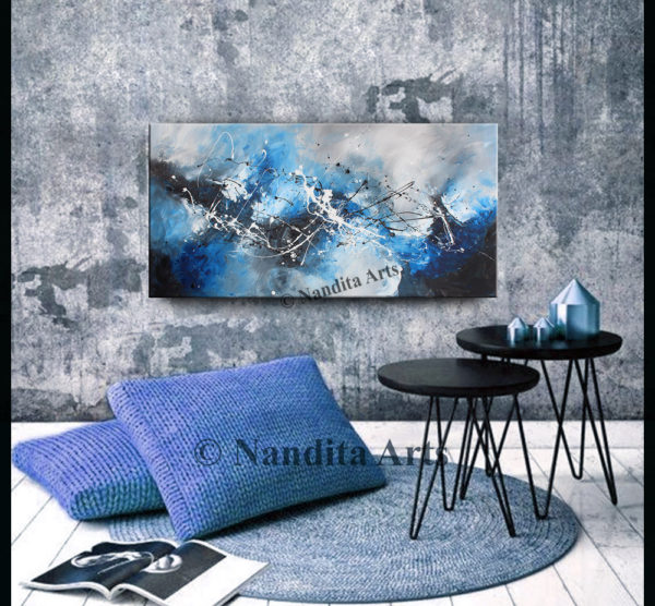 Ocean Blue wall Art by Nandita Albright
