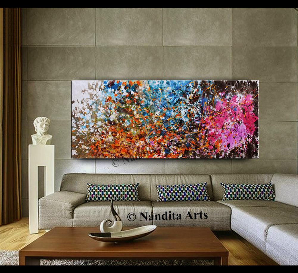 Jackson Pollack Abstract Wall Art by Nandita Albright