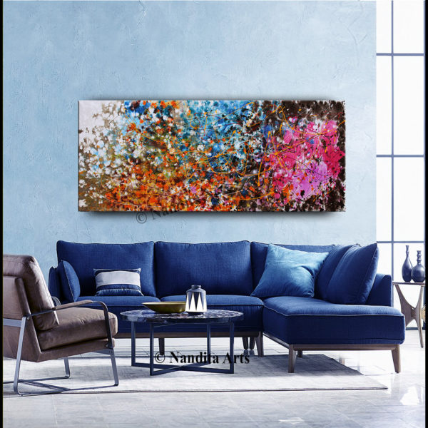 Jackson Pollack Abstract Wall Art by Nandita Albright